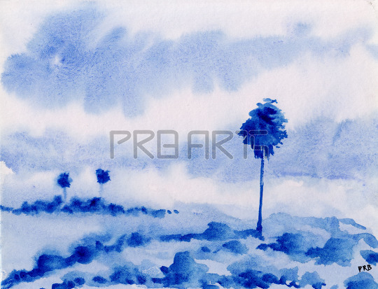 watercolor painting for beginners | simple outdoor scene