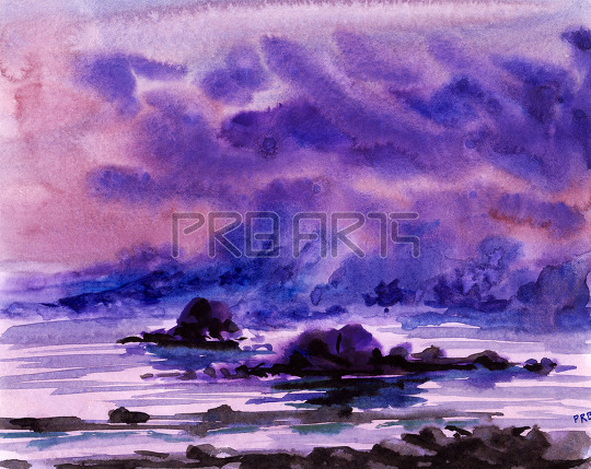 watercolor painting for beginners | fantasy scenery | mountains, rocks and water